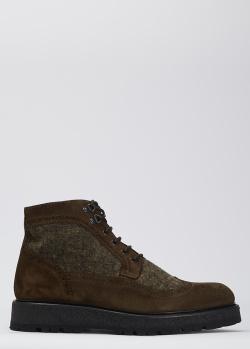 Ботинки-броги Giampiero Nicola из коричневой замши, фото