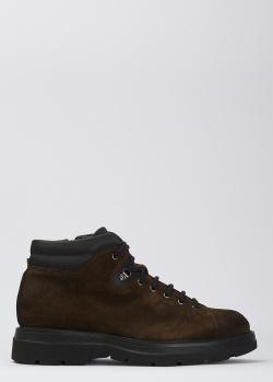 Замшевые ботинки Giampiero Nicola на шнуровке, фото