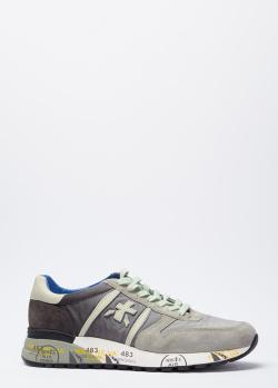 Серые кроссовки Premiata на толстой подошве, фото