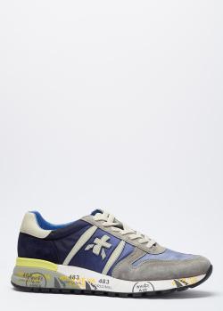 Кроссовки на шнуровке Premiata с рисунком на подошве, фото
