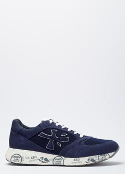 Синие кроссовки Premiata на толстой подошве, фото