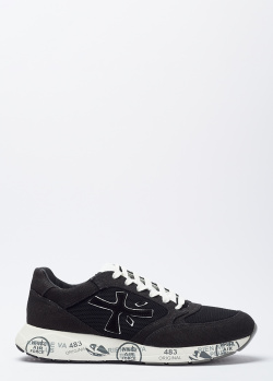 Черные кроссовки Premiata с принтом на подошве, фото