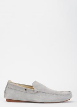 Замшевые мокасины Mercedes-Benz серого цвета, фото