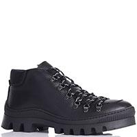 Черные ботинки Luca Guerrini на рифленой подошве, фото
