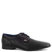 Черные туфли Luca Guerrini из перфорированой кожи, фото