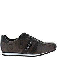 Кожаные коричневые кроссовки Calvin Klein, фото