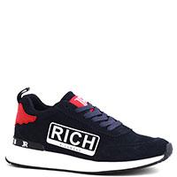 Замшевые кроссовки John Richmond темно-синего цвета, фото