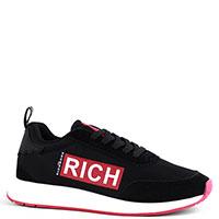 Черные кроссовки John Richmond с логотипом, фото