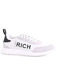 Белые кроссовки John Richmond с брендовым принтом, фото