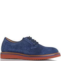 Синие замшевые туфли Camerlengo с перфорацией, фото