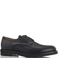 Черные мужские туфли Camerlengo с перфорацией, фото