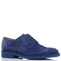 Туфли Camerlengo из замши синего цвета, фото