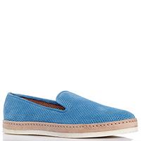 Перфорированные туфли Camerlengo синего цвета, фото