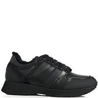 Утепленные кроссовки Camerlengo черного цвета, фото