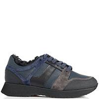 Темно-синие кроссовки Camerlengo утепленные, фото
