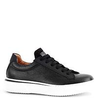 Черные кроссовки Camerlengo из зернистой кожи, фото