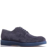 Черные туфли Dino Bigioni с подошвой синего цвета, фото