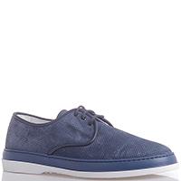 Замшевые синие туфли Dino Bigioni на шнуровке, фото