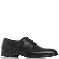 Черные туфли Dino Bigioni с декоративной перфорацией, фото