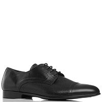 Черные туфли Dino Bigioni из гладкой и перфорированной кожи, фото