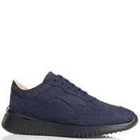 Мужские кроссовки Gianni Famoso из нубука синего цвета, фото