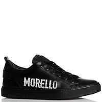 Черные кеды Frankie Morello с брендовой надписью, фото