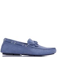 Синие мокасины Gianni Famoso со шнуровкой, фото