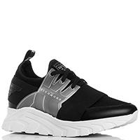 Черные кроссовки John Richmond с силиконовой вставкой, фото