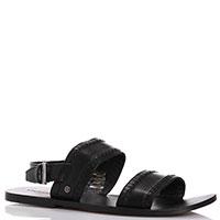 Черные сандалии Trussardi Jeans с декоративными строчками, фото