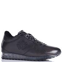 Черные кроссовки Roberto Cavalli на меху, фото