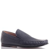 Туфли синего цвета Dino Bigioni с перфорированной кожи, фото