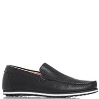Черные туфли Gianni Famoso с мелкой перфорацией, фото