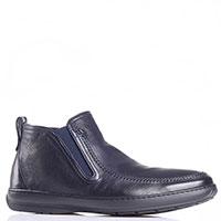 Ботинки Aldo Brue из темно-синей зернистой кожи, фото