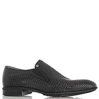Классические туфли Aldo Brue из перфорированной кожи черного цвета, фото