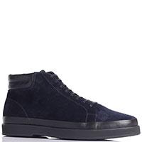 Замшевые синие ботинки Aldo Brue на шнуровке и молнии, фото