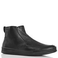 Зимние ботинки с декоративной строчкой Aldo Brue из зернистой кожи черного цвета, фото