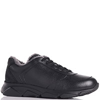 Кроссовки Aldo Brue из кожи черного цвета, фото