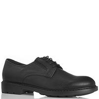 Черные туфли Dino Bigioni из натуральной зернистой кожи, фото