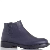 Зимние кожаные ботинки Dino Bigioni синего цвета, фото