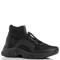 Текстильные кроссовки Calvin Klein черного цвета, фото
