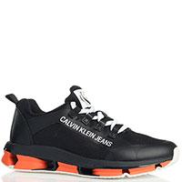 Текстильные кроссовки Calvin Klein Leory черного цвета, фото