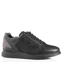 Мужские кроссовки Emporio Armani черного цвета, фото