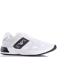 Белые кроссовки Emporio Armani из мягкой кожи, фото