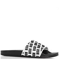 Резиновые шлепанцы John Richmond черно-белого цвета, фото