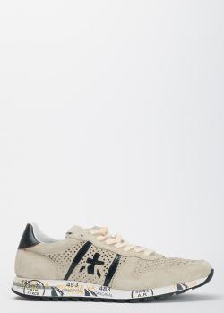 Замшевые кроссовки Premiata с перфорацией, фото