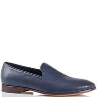 Кожаные туфли Gianfranco Butteri синего цвета, фото