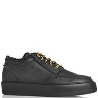 Мужские ботинки Paciotti на толстой подошве в черном цвете, фото