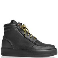 Ботинки Paciotti на толстой подошве черного цвета, фото