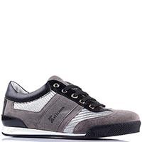 Серые кроссовки Galliano с кожи и замша, фото