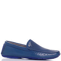 Кожаные мокасины Aldo Brue синего цвета, фото